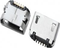 MICRO USB 5F B TYPE DIP 6.40 无卷边