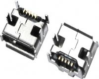 MICRO USB 5F AB TYPE 四脚 DIP 7.20-6.60