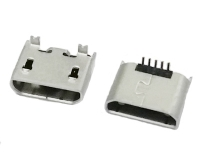 上海MICRO USB 5P 直立式SMT无卷边