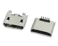 MICRO USB 5P 直立式SMT无卷边