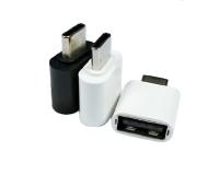 跟和USB Type c公头对USB 2.0母头转接头
