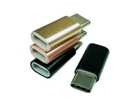 深圳USB Type c公头对Micro usb母头铝合金转接头
