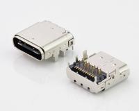上海USB C TYPE 前插后贴双铁壳24PIN母座防连展款