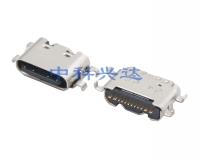 重庆USB CF 16PIN (L=6.35) MID MOUNT 0.8 WITH COVER舌片外露