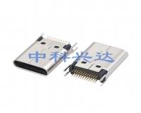 Type c Female夹板0.80长体H=10.45